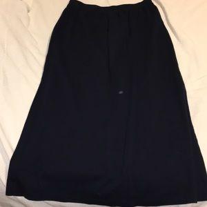 Adrienne Vittadini blue  maxi skirt large